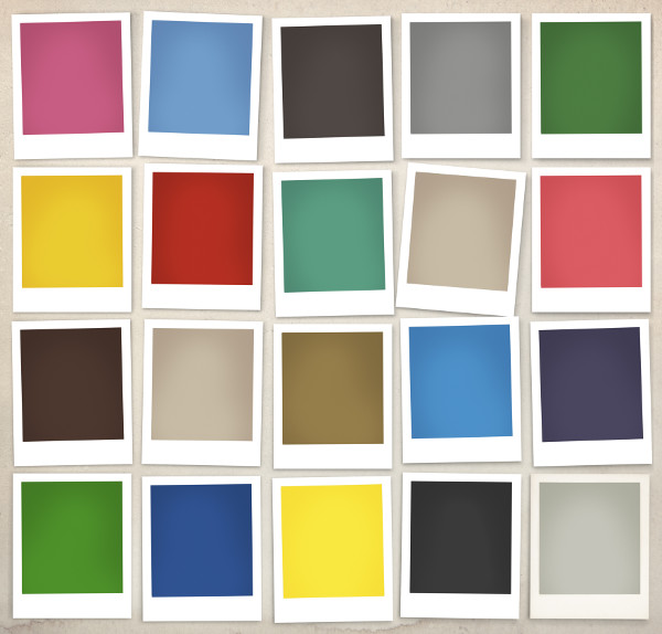 color swatches of paint colors
